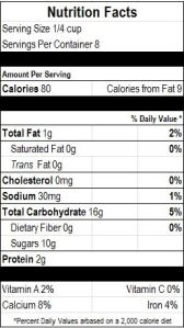 Vegan Pastry Cream Nutrition Facts