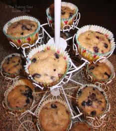 Blueberry Chocolate Chip Kefir Muffins