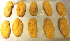 Risen dough, ready for baking.