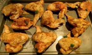 Chicken wings before baking.