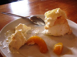 The pavlova was so good that I couldn't even take a picture of it before half of it was gone.