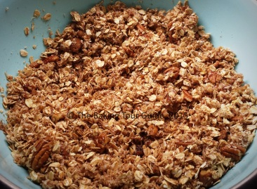 Mixed granola ingredients