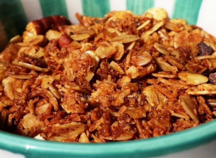 Coconut Pecan Oat Granola 8-14-15