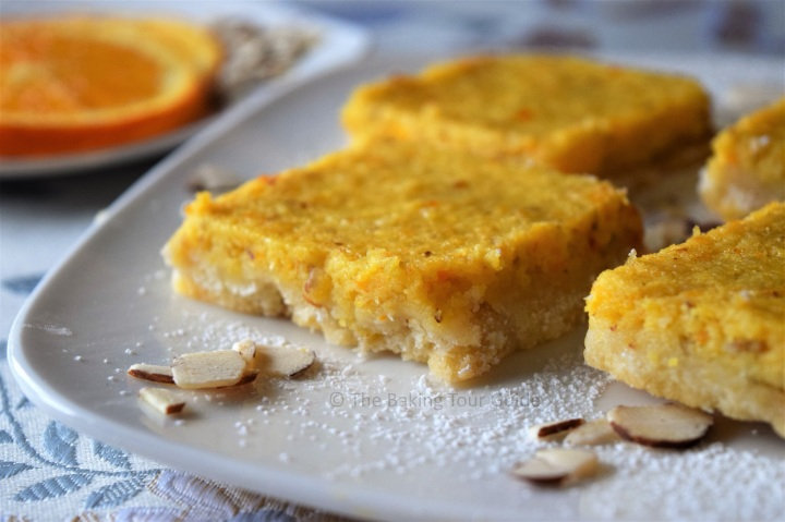 Orange Saffron Almond Bars © The Baking Tour Guide